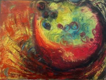 Ryöppyävä maalaus 002
